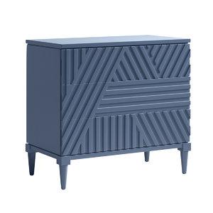 3D geometric chest drawer blue