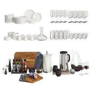 decorative kitchen modern 3D
