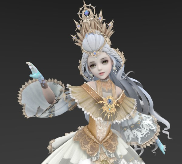 queen white model