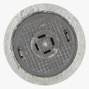 3D model manhole 01