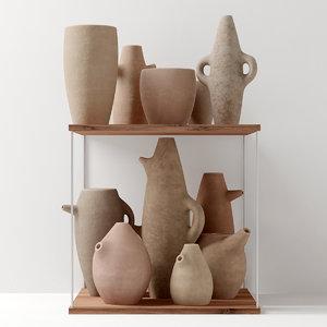 3D clay dish model