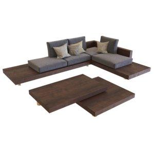 3D sofa garden teras model