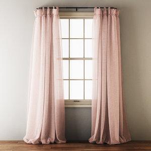draped linen curtains model