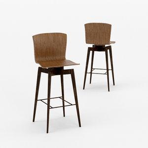 architectural visualization barhocker bar stool 3D model