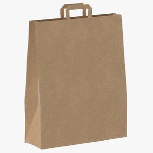 recycled paper bag 01 3D model