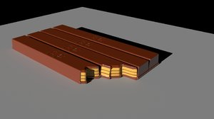 chocolate kit kat 3D model
