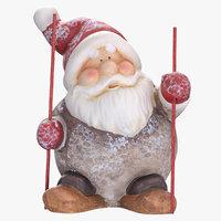3D santa claus statue decoration