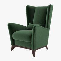 bergamo wing chair model
