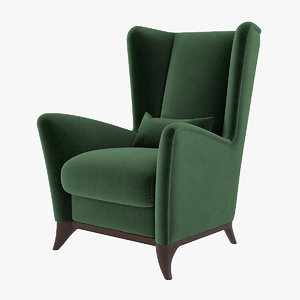 bergamo wing chair model