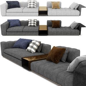 3D freeman sofa minotti