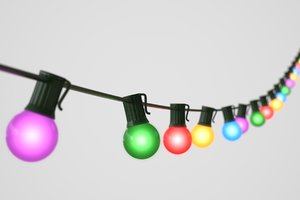 3D string christmas lights v8