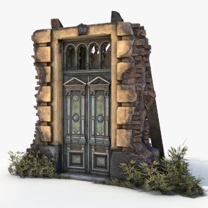 3D model old door
