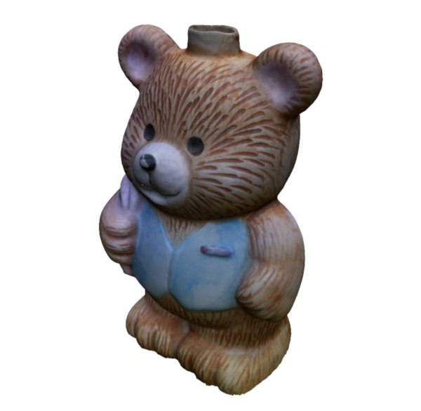 3D old soap dispenser bear model
