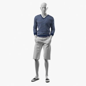 3D realistic mannequin summer clothes