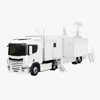 3D generic tv truck trailer model
