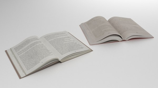 open books soft binding 3D model