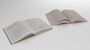 open books soft binding 3D model