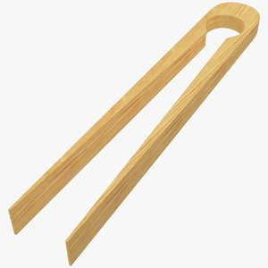 3D wooden tweezers wood