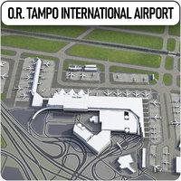johannesburg tambo international airport 3D model