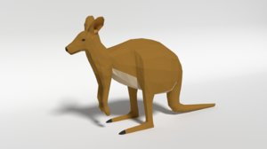 kangaroo blender 3D model