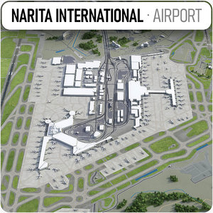 3D model narita international airport -