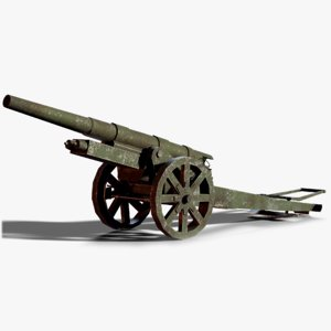 13 kanone 09 cannon 3D model