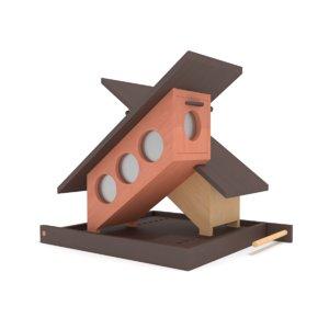 wooden bird feeder x 3D model