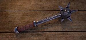 3D fantasy medieval mace