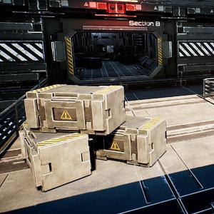 3D modular sci-fi station