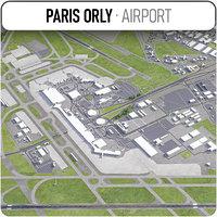 paris orly airport - 3D