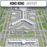 3D model hong kong international hkg