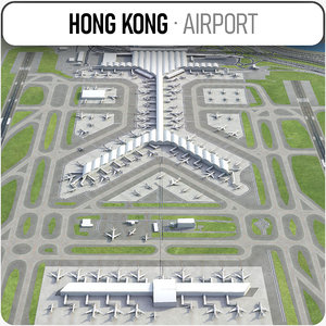 3D model hong kong international hkg