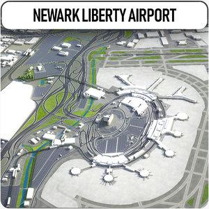 newark liberty international airport 3D model