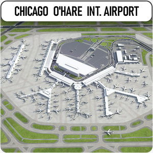 chicago o hare international 3D