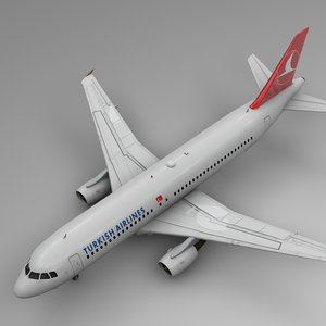 3D turkish airlines airbus a320