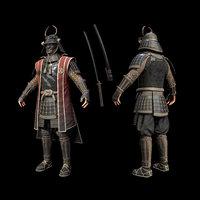 samurai character unity model