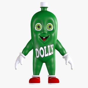 3D cartoon soda dollynho bottle