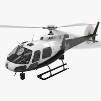 3D model helicopter as-350 edmonton police