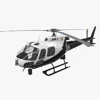 helicopter as-350 edmonton police 3D model