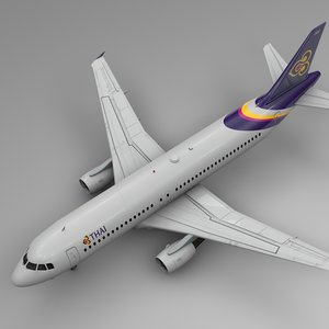 3D thai airways airbus a320