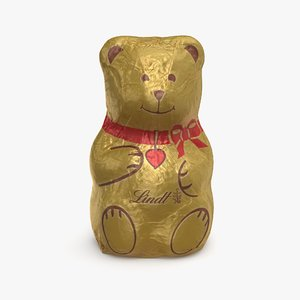 foil chocolate bear 3D