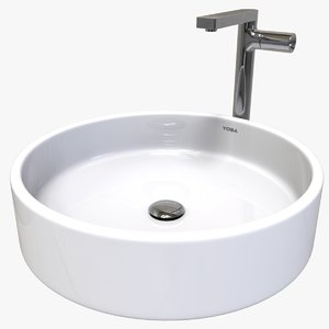 cylindrical sink 3D model