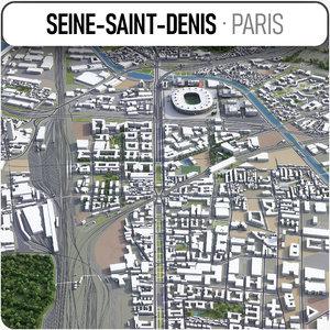 3D seine-saint-denis - grand model