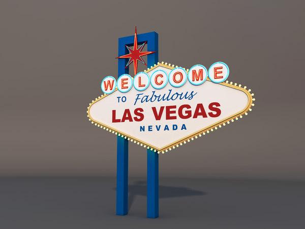3D las vegas signboard model