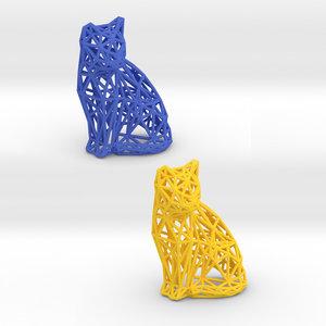 cat pets print model
