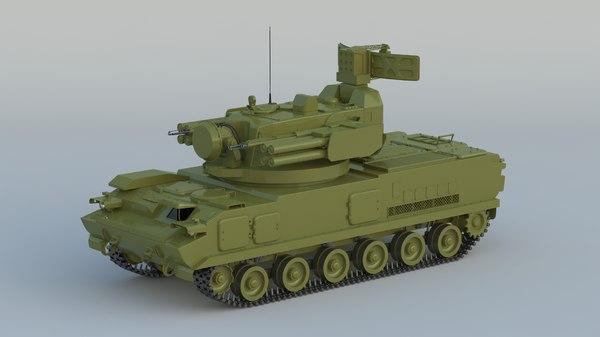 2k22 tunguska sa-19 grison 3D model