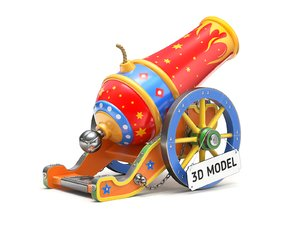 3D circus cannon model