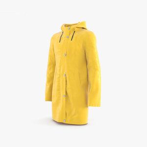 raincoat coat rain 3D