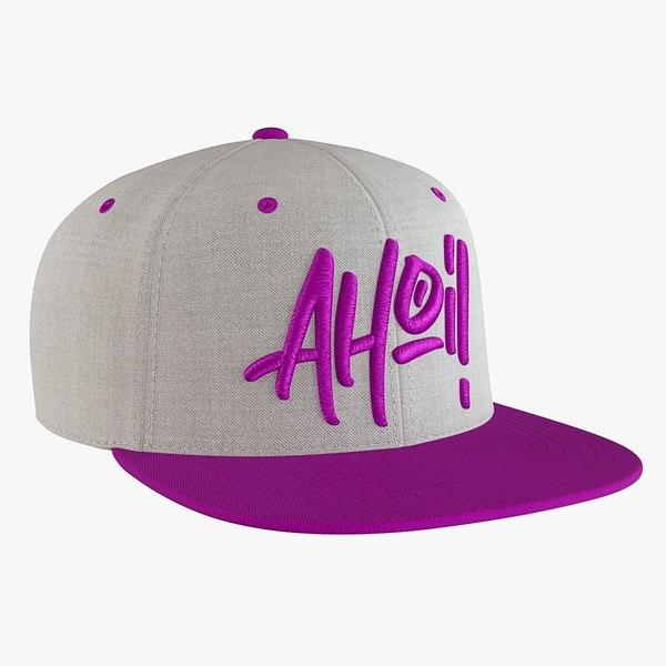 3D snapback cap