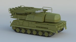 3D buk missile systems model